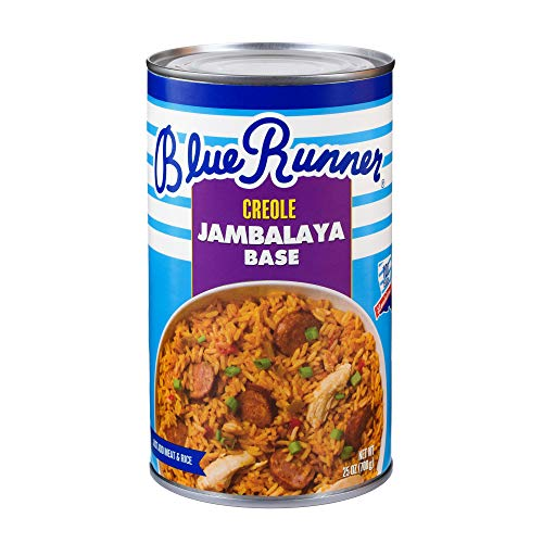 Blue Runner-Creole Jambalaya Base-25 Ounce Can (Pack 6)-A Rich, Flavorful and Authentic Creole Classic-An Instant Meal, Just Add Meat