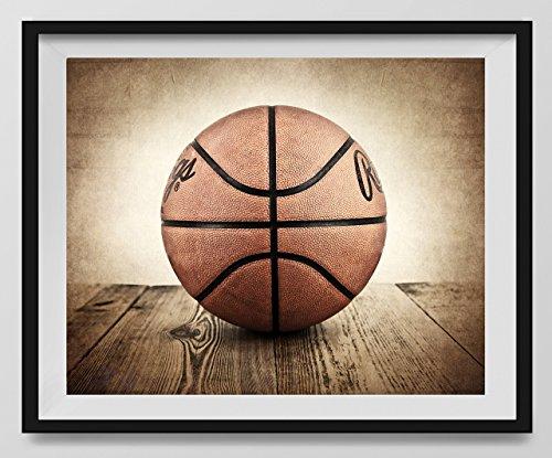 Vintage Basketball on Vintage Background Fine Art Photography Print, Basketball artwork, Nursery decor, Kids Room Sports Wall Art, Basketball photo by Saint and Sailor Studios