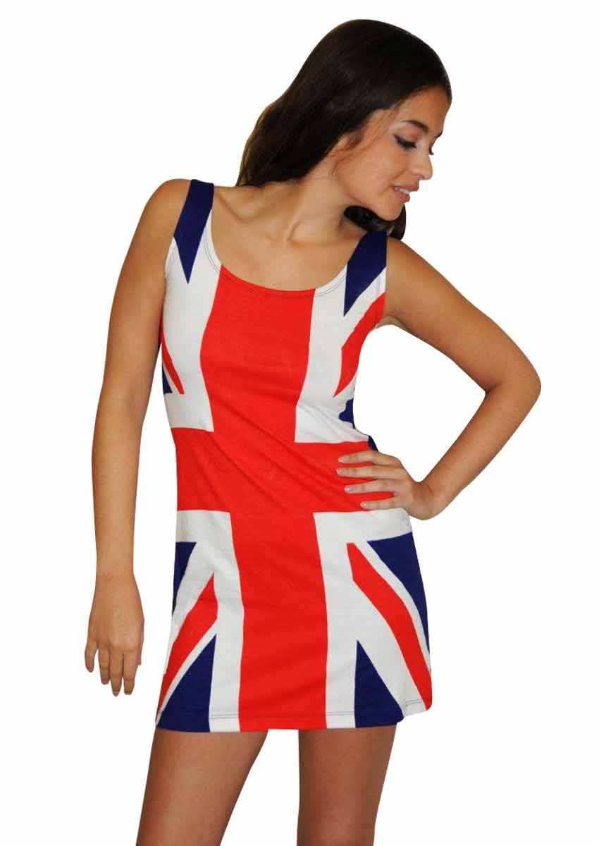 Donna Union Jack Fitted Dress