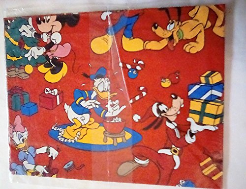 Carlton Bow - Vintage Disney Mickey Mouse Gift Wrap Christmas Wrapping Paper + BOWS