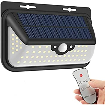 Outdoor solar lights with remote control 56 leds 1000 lumens outdoor solar lights with remote control muifa sp706 motion sensor 68 led 800lm bright weatherproof mozeypictures Gallery