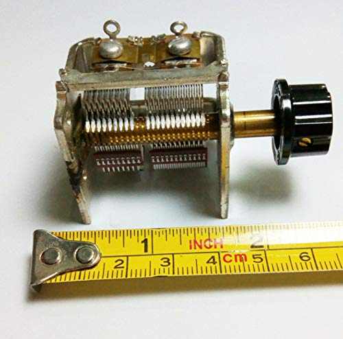 Alps Variable Capacitor with Tuning Knob Adjustable 25-450 pf for Crystal Radio Amplifier Homebrew DIY kit qrp Loop Antenna Tuner am fm mw sw Shortwave Radio