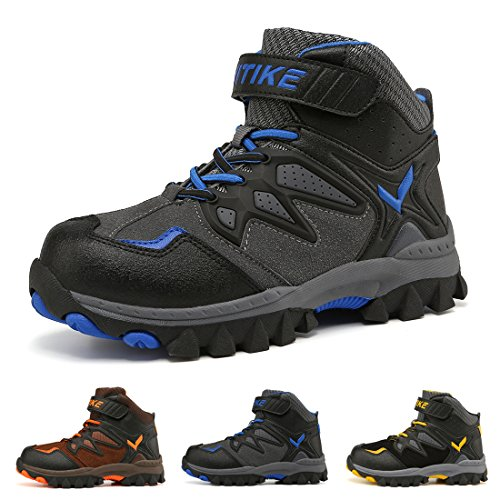Kids Hiking Boots Boys Girls Shoes Winter Snow Sneaker Outdoor Walking Antiskid Steel Buckle Sole