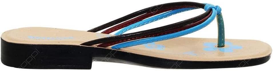 Aerosoft Blue Thong Slipper For Women