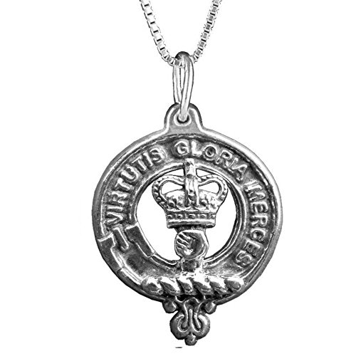 Crest Jewelry Pendant (Robertson Clan Crest Scottish Pendant ~ Sterling Silver)