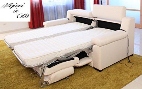 Artigiani in citt divano doppio letto modello esmeralda - Divano letto con due letti singoli ...