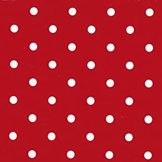 Fablon 45 cm x 15 m Roll Polka Dot, Red