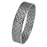 Paz Creations ♥925 Sterling Silver Lace Design Bangle (7.25)
