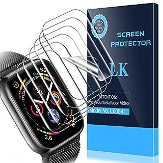 [6 Pack] LK Screen Protector for Apple Watch 38mm/Apple Watch 40mm Series 6/SE/5/4, [Model No. LK0541][Korean Material], [Case Friendly] [Bubble Free] HD Clear Flexible TPU Film