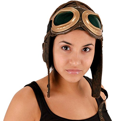 Elope Aviator Brown Hat (Aviator Hat And Goggles)