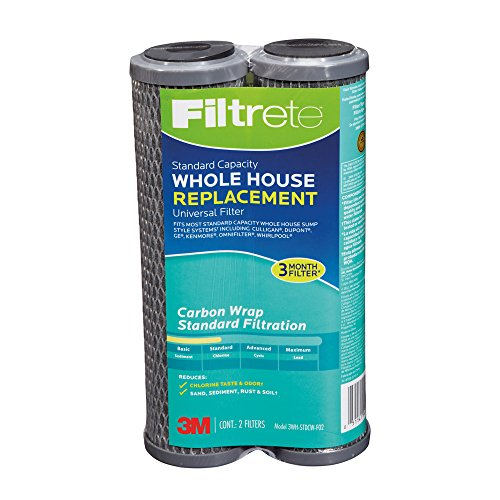 Filtrete 3WH-STDCW-F02 Standard Capacity White ole House System Refill, Carbon Wrap, 2-Pack