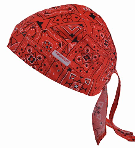 Comeaux Caps 118-7000-RED Doo Rags, Bandanna, One Size, Red