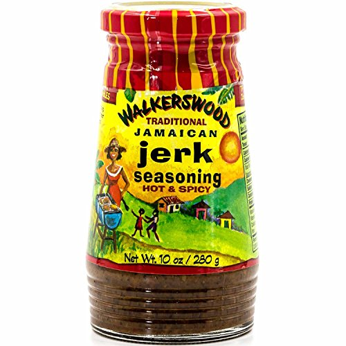 Walkerswood Traditional Jamaican Jerk Seasoning, 10 oz, Hot & Spicy, Versatile Jerk Seasoning, Add Traditional Jamaican Kick to Chicken, Lamb, Pork, Fish and Vegetable Dishes