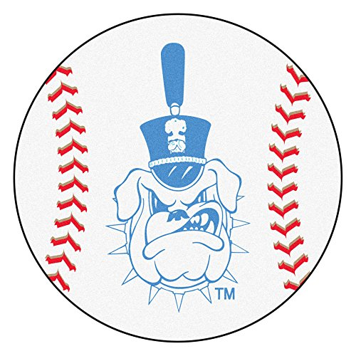 NCAA The Citadel Bulldogs Baseball Shaped Mat Round Area Rug