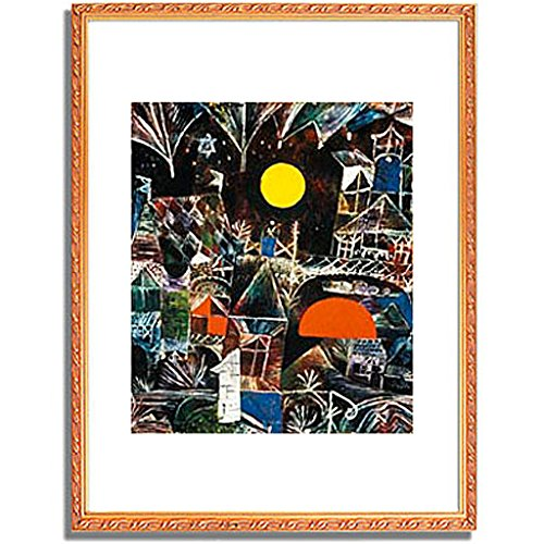 パウルクレー 「Moonrise Sunset. 1919 」 インテリア アート 絵画 壁掛け アートポスターフレーム:装飾(金) サイズ:S(221mm X 272mm) B00PB7FXOA 1.S (221mm X 272mm)|4.フレーム:装飾(金) 4.フレーム:装飾(金) 1.S (221mm X 272mm)