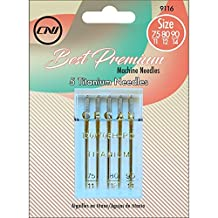 Clover 9116 Best Premium Machine Needles, Titanium Assortment