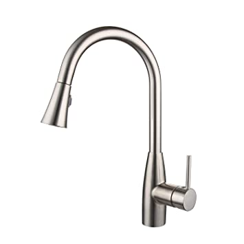 Buy Crea Kitchen Faucet Modern Single Lever Pull Down Sprayer