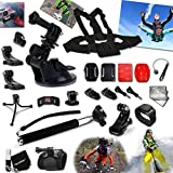 Xtech® 25 Piece Accessory Kit for GoPro HERO4 Hero 4, Hero3+ Hero 3+, HERO3 Hero 3, HERO2 Hero 2, HD Motorsports HERO, Surf Hero, GoPro Hero Naked, GoPro Hero 960, GoPro Hero HD 1080p, GoPro Hero2 Outdoor Edition Digital Cameras Includes: Chest Strap Mou