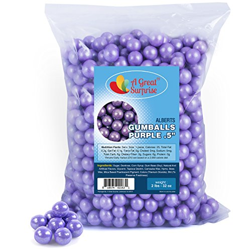 urple Gumballs for Candy Buffet - Mini Shimmer Gumballs 1/2 Inch , Bulk Candy 2 LB (1/2 Inch Candy)