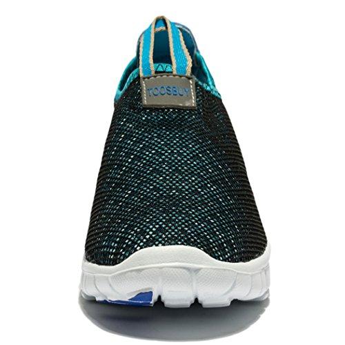 Evildoer Heren & Dames Ademende Mesh Running Sneakers Outstationr Instapper Strand Aqua Schoenen Blauw