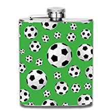 3D Print Football Hip Flasks Jacket Pocket Flask Modern,Sophisticated,Discreet Alcohol Flask,Sleek Canteens That Hold Whiskey,Rum,Scotch,Vodka 7 0z of Liquor
