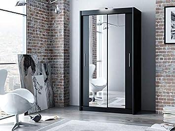 low priced 3d958 0692e OSFO Mirrored Sliding Wardrobe - 120cm Width, Grey: Amazon ...