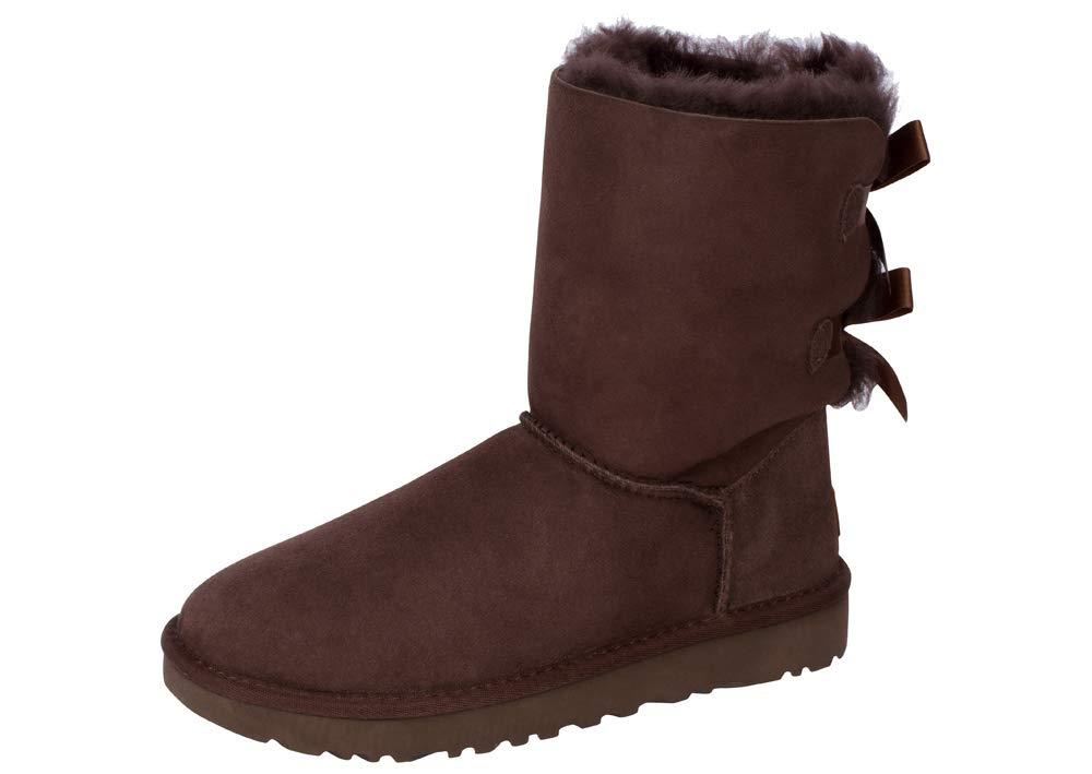 683585979 UGG Women's Bailey Bow II Chocolate Sheepskin Boot Size ... - Galleon