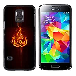 iKiki Tech / Estuche rígido - Elemento fuego - Samsung Galaxy S5 Mini, SM-G800