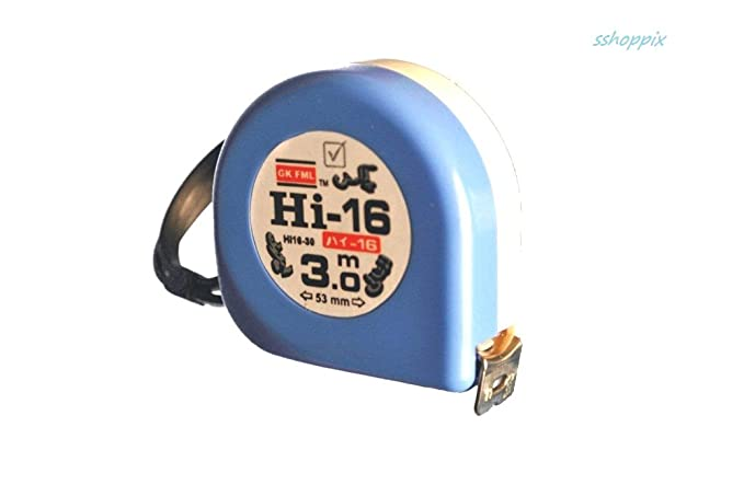 Freemans Measures Hi - 16 ABS Case Steel White and Blue Measuring Tape (3mx16mm) Tape Measures at amazon