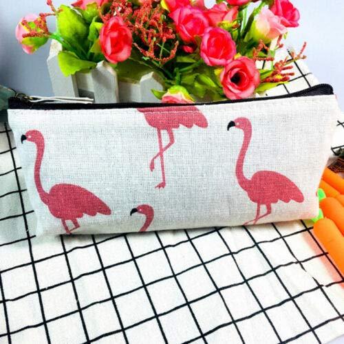 Cotten Linen Pencil Pen Case Cosmetic Makeup Bag Storage Pouch Purse Stationery (Color - #4)