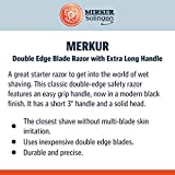 MERKUR Black Handled MK-30B Double Edge Safety