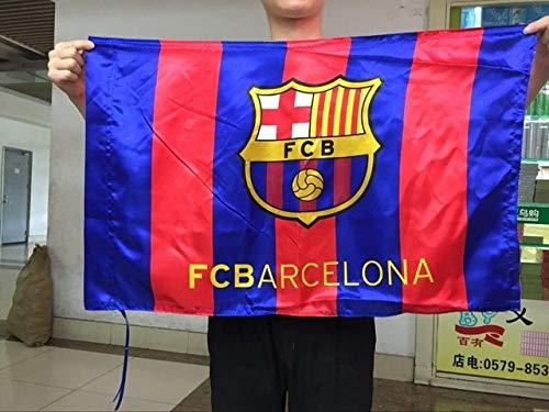 Value-Smart-Toys - The FCB flag Barcelona flag Football Club sports flag banner Silk and satin 5x3 FT 150x90 CM