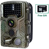 Hunting Trail Camera,FLAGPOWER Wildlife Game Camera 16MP 1080P HD Low Glow with Time Lapse 75ft 120°Wide Angle Infrared Night Vision 46pcs IR LEDs 2.4 LCD Screen IP56 Scouting Cam Deer Camera
