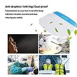 Decdeal Safety Face Shield, Transparent Lightweight Face Protective Visor to Prevent Saliva, Splash, Droplet, Pollen and Dust for Women Men