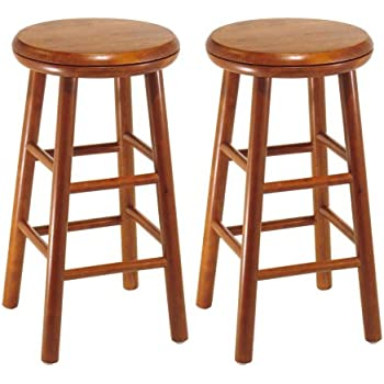 Beautiful Round Wood Bar Stool