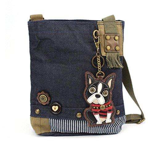 dy Messenger handBags with Keyfob/ Coin Purse- (Boston Terrier) ()