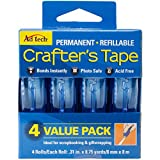 Arts & Crafts : Ad-Tech Permanent Crafter's Tape, 0.31 by 315-Inch, 4 Per Package