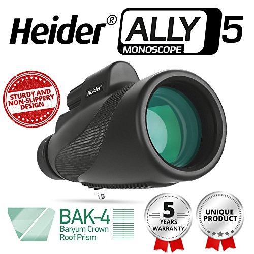 Heider Ally5 Monoscope 12x50 Compact Monocular Scope Waterpr