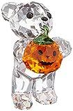 Swarovski 'A Pumpkin for You Kris Bear Figurine, 1-1/2' x 7/8' x 1-3/8'
