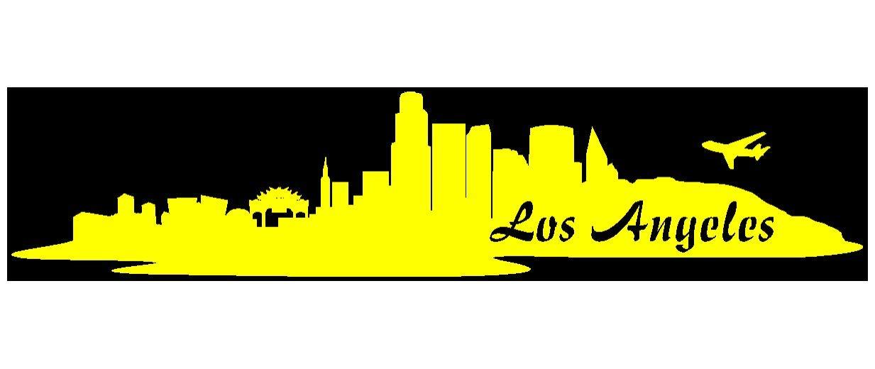 Samunshi® Aufkleber Los Angeles Skyline Autoaufkleber LA in 9 Größen und 25 Farben (180x39cm kupfermetalleffekt) B009EQ344K | Deutschland Frankfurt
