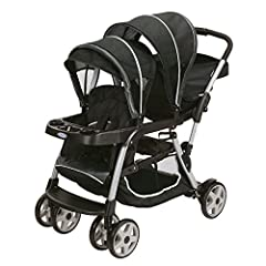 Meet the most versatile baby stroller. With 12 riding options (a great feature among strollers.), from infant to youth, your kids will love getting out and about. The Ready2Grow Click Connect Double Stroller, Gotham, accepts Two Graco SnugRid...