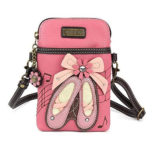 (Chala Crossbody Cell Phone Purse-Women PU Leather Multicolor Handbag with Adjustable Strap (Ballerina)