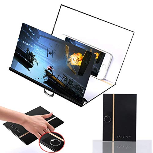 [Upgrade Newest] Screen Magnifier,HoFire Cell Phone 3D HD Movie Video Amplifier with Foldable Holder Stand for All Smart Phones