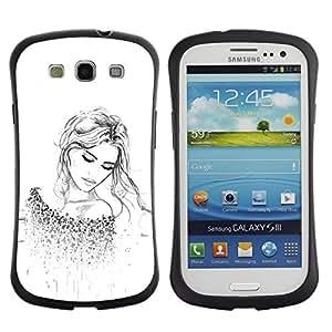 "Hypernova Slim Fit Dual Barniz Protector Caso Case Funda Para SAMSUNG Galaxy S3 III / i9300 / i747 [De manera rubio tatuaje blanco limpio""]"