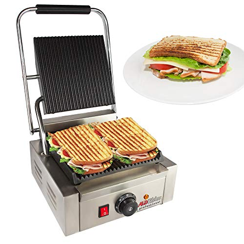 Panini Sandwich Press Grill | Durable Stainless Steel Construction with Adjustable Temperature Control ALDKitchen NP-589 (9