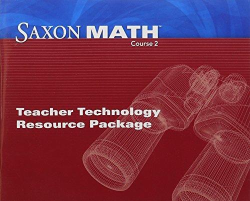 Saxon Math Course 2: Teacher Technology Pack