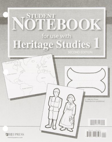 Student Notebook for use with Heritage Studies 1 (Heritage Studies Notebook)