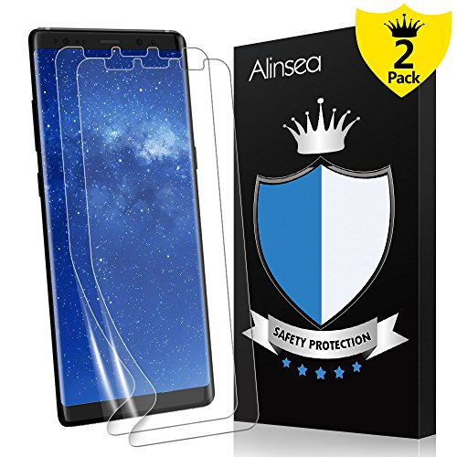 Galaxy Note 8 Screen Protector, Alinsea Galaxy Note 8 Screen Protector [Not Glass][Case Friendly] [Bubble-Free] [No Lifted Edges] Wet Applied for Samsung Galaxy Note 8 [2-Pack]