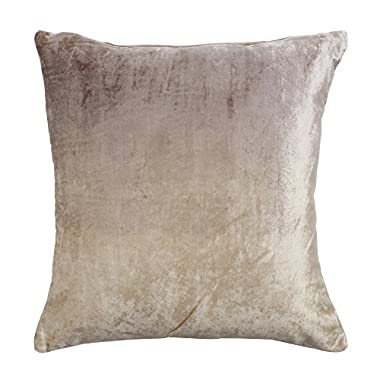 Best Home Fashion Ombre Velvet Pillow - Insert Not Included - Beige - 18 W x 18 L - (1 Pillow Cover)