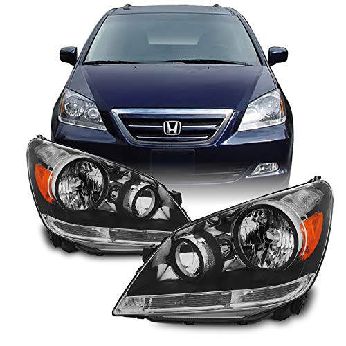 (For Honda Odyssey Chrome OE Replacement Headlights Driver/Passenger Head Lamps Pair)